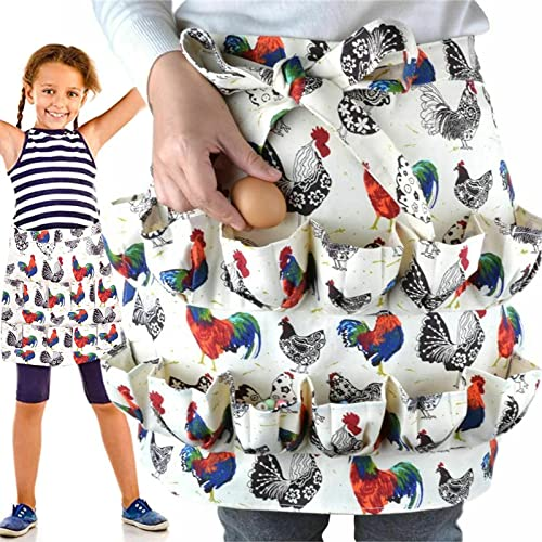 wholesale Eggs 2021 Collecting Apron Eggs Gathering Holding online sale with Pocket for Chicken Duck Goose Eggs Kitchen Farmhouse Workwear Chicken Coop outlet online sale