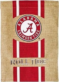 Team Sports America Flag, Burlap, Garden Size, University of Alabama