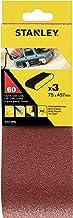 Stanley STA33096-XJ schuurband (75 x 457 mm, extra grove korrel K60, geschikt voor Black+Decker bandschuurmachine KA85, KA...