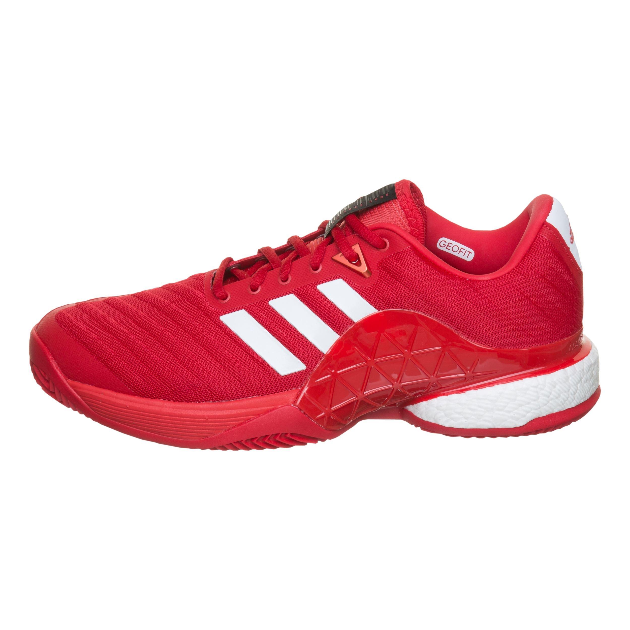 adidas - Barricade Boost clay men's tennis shoes (red/black) - EU ...