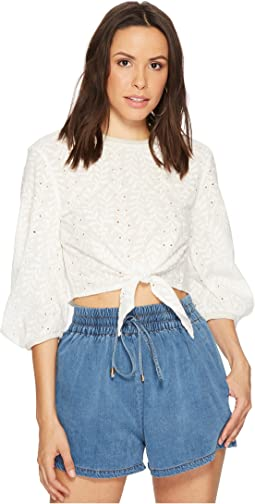 Bishop + Young - Knit Back Embroidered Top