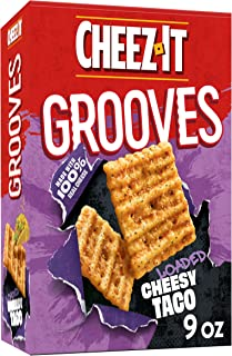 Cheez-It Grooves, Crunchy Cheese Snack Crackers, Loaded Cheesy Taco, 9oz Box