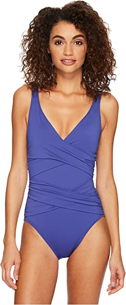 Tommy Bahama - Pearl Wrap-Front One-Piece Swimsuit