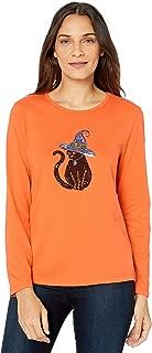 Women's Tabitha Crew Neck Festive Halloween Tee Shirts