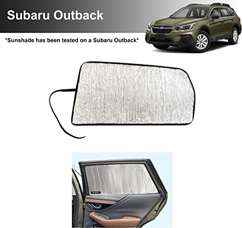 popular YelloPro Side Window Rear Seat Sunshade Custom Fit for 2020 2021 Subaru Outback wholesale SUV, Base, Premium, Limited, high quality Touring, UV Reflector Sun Protection Accessories (Set of 2) outlet online sale