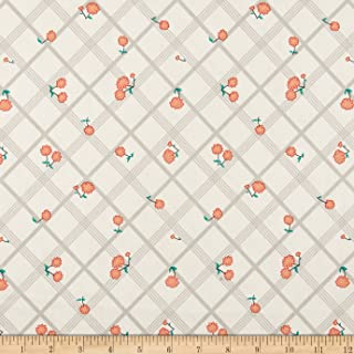 Penny Rose Calico Crow Plaid Cream Fabric by The Yard
