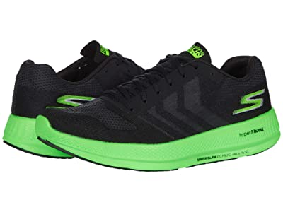 SKECHERS Go Run Razor 3+ (Black/Green) Men