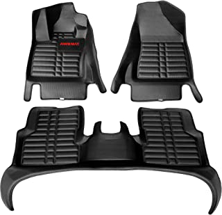 Custom Fit Car Floor Mats for Jeep Compass 2017-2021 Model AWEMAT Digital Measured Exquisite Pattern-Large Coverage -Waterproof-All Weather Protection-Black