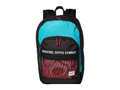 Herschel Supply Co. Kaine (Black/Tile Blue/Raspberry Sorbet) Backpack Bags