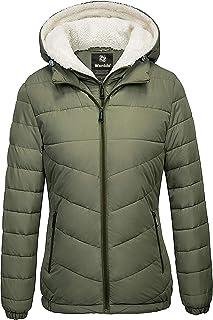 Sponsored Ad - Wantdo Women's Quilted Winter Coats Hooded Warm Puffer Jacket with Fleece Hood