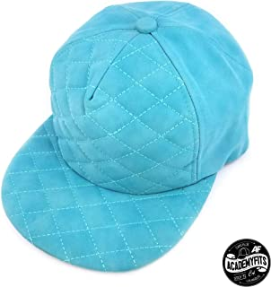 AcademyFits Quality 5 Panel PU Leather Quilted Foam Strapback Cap  Adjustable Fit Men Women Unisex Flat 83e4f439a074