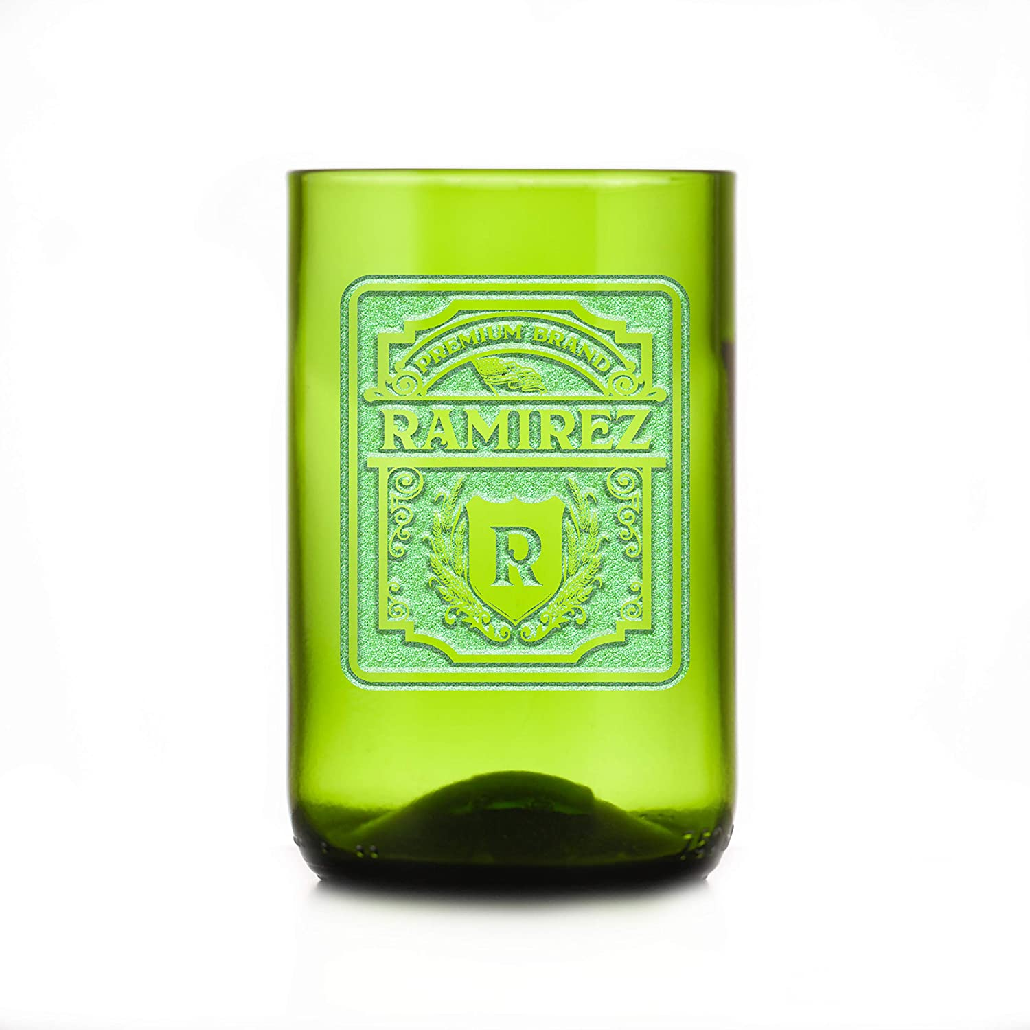 Personalized Label Green wholesale Recycle Wine Max 82% OFF Tumbler Glass Bottle Set