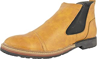 LeeGraim Men's Leather Chealsea Boots