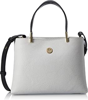 Tommy Hilfiger Core Med Satchel Bag, Grey, AW0AW07685