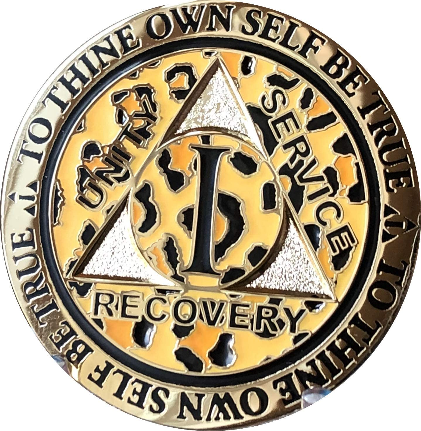 RecoveryChip 1 Year Animer and price revision AA Medallion Leopard Reflex Plated Anim Detroit Mall Gold