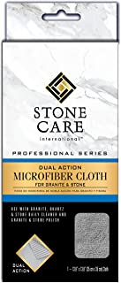 Stone Care International Granite and Stone Dual Action Microfiber Cloth - Removes Dirt and Polishes Stone