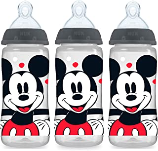 NUK Smooth Flow Disney Bottle, Mickey Mouse, 10 Oz, 3 Pack
