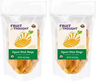 Organic Dried Mango Strips 16 Ounce Bag (Pack of 2) - Seriously It's Just Mango, No Added Sugar, No Preservatives - Just N...