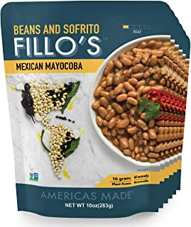 Sponsored Ad - FILLO'S Mexican Mayocoba Beans, Ready to Eat Sofrito Beans, 6 Count, 10 Ounces Each, Seasoned with Fresh Ve...