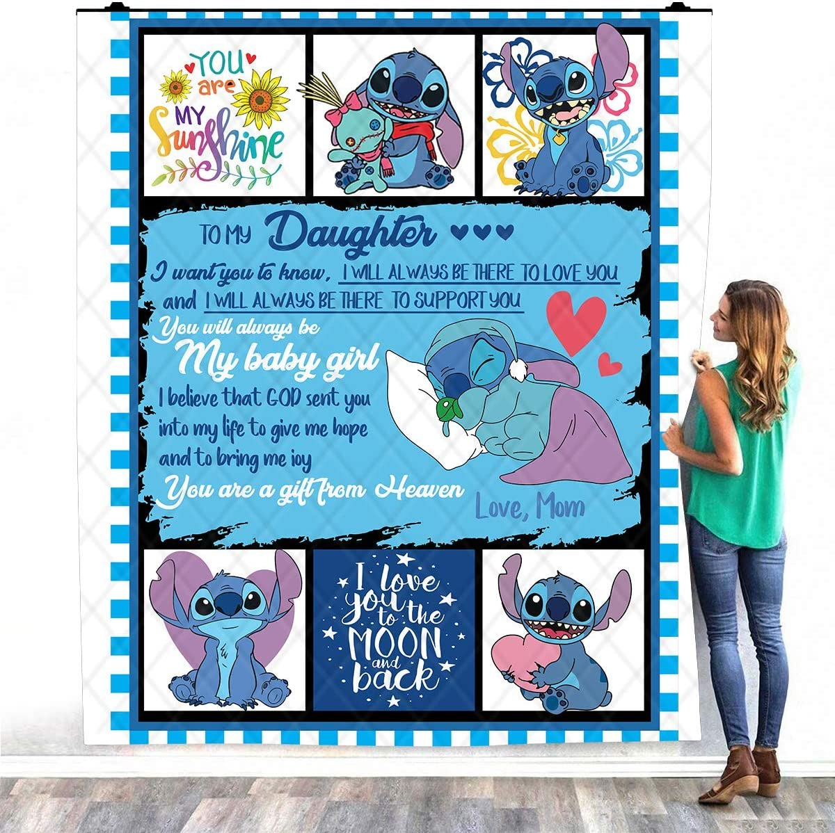 Stitch Blanket 値下げ to My Daughter Want You I Decorati Know お中元