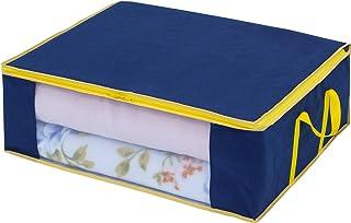 アストロ 布団収納袋 押さえの匠 ネイビー 毛布・軽寝具用 不織布 軽圧縮 606-52