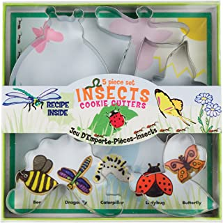 Fox Run 36009 Insect Cookie cutters, 5.75 x 5.75 x 1 inches, Metallic