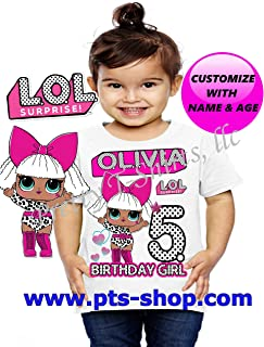Lol Doll Birthday Shirt, Custom Lol Birthday Shirts, Add any name and any age, Family Matching Shirts, Lol Birthday Shirts, Custom Lol Doll shirt, Lol Doll