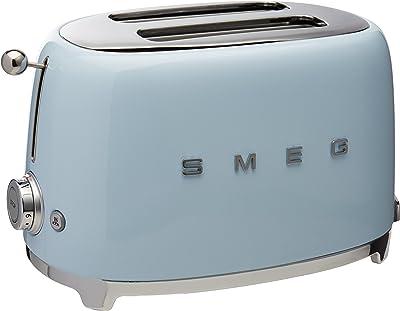 Smeg TSF01PBUS Tostadora 2 rebanadas, color Azul Pastel