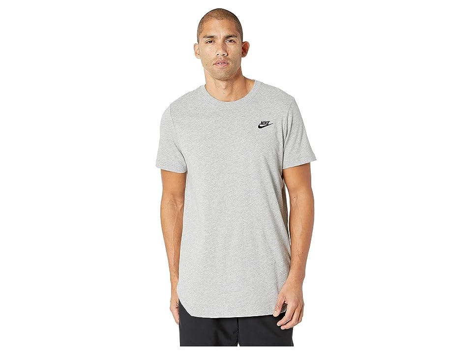 Nike NSW Tee Alt Hem Futura T-Shirt (Dark Grey Heather/Black) Men