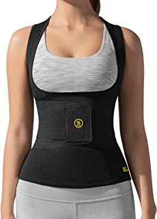 Hot Shapers Cami Hot with Waist Trainer – Women's Slimming Body Shaper – Vest – Corset for Weight Loss, Trimming Tummy, Workouts, Saunas, and Hourglass Figure – Stomach Shaping