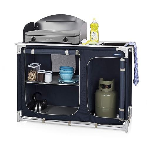 Cuisine de camping Campart - Pliable et compacte - Compartiments de rangement - Pare-vent de cuisson