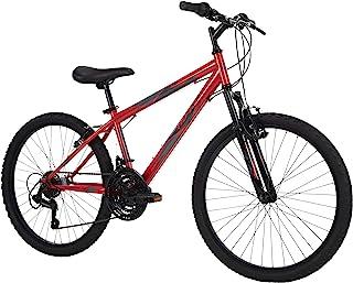 Huffy Hardtail Mountain Bike, Stone Mountain 24-26 inch 21-Speed, Lightweight, Gloss Red