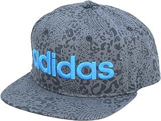 (アディダス)adidas ベースボール キャップ メンズ レディース ストリート 帽子 レオパード 総柄 ロゴ ブラック グレ adk-143311005 ー ホワイト スポーツ フェス ダンス CAP スナップバック