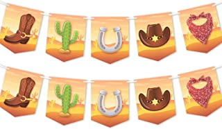 Cowboy Birthday Party Banner - Western Party Theme Decorations Supplies - 2 Pack