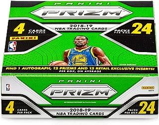 2018-19 Panini Prizm Basketball Retail Box (24 Packs/4 Cards: 1 Auto, 24 inserts, Per Box, On Average)