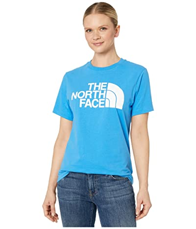 The North Face Half Dome Cotton Short Sleeve Tee (Clear Lake Blue) Women