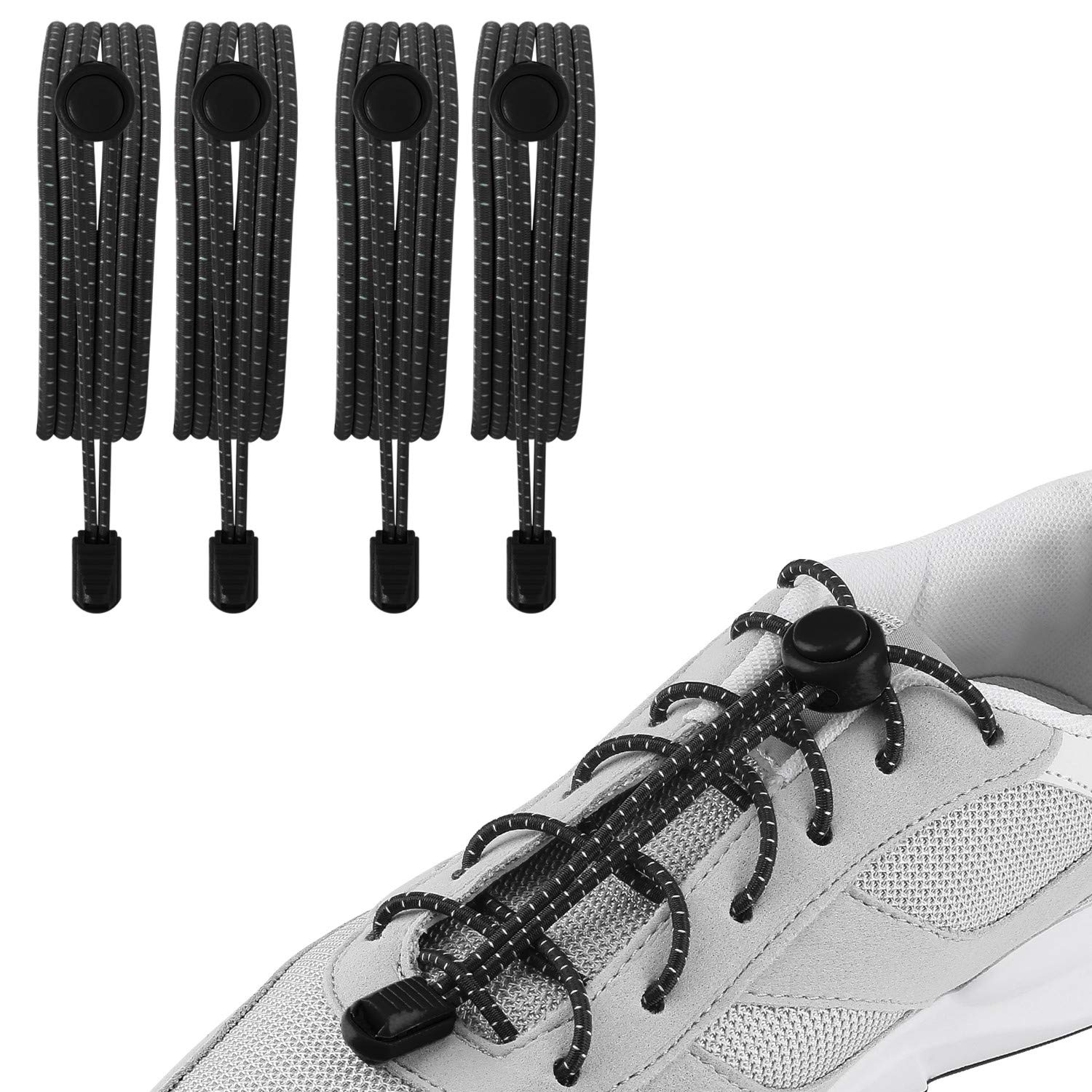 No Tie Laces,Elastic Laces for Trainers