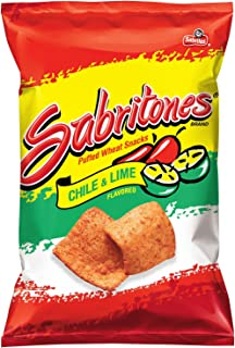 Sabritones Corn Chips, Lime, 2.125 Ounce (Pack of 15)