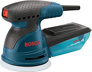 Bosch ROS20VSK Palm Sander – 2.5 Amp 5 in. Corded Variable Speed Random Orbital..