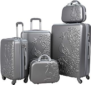 Luggage Trolley Set, 5 Pcs - Grey