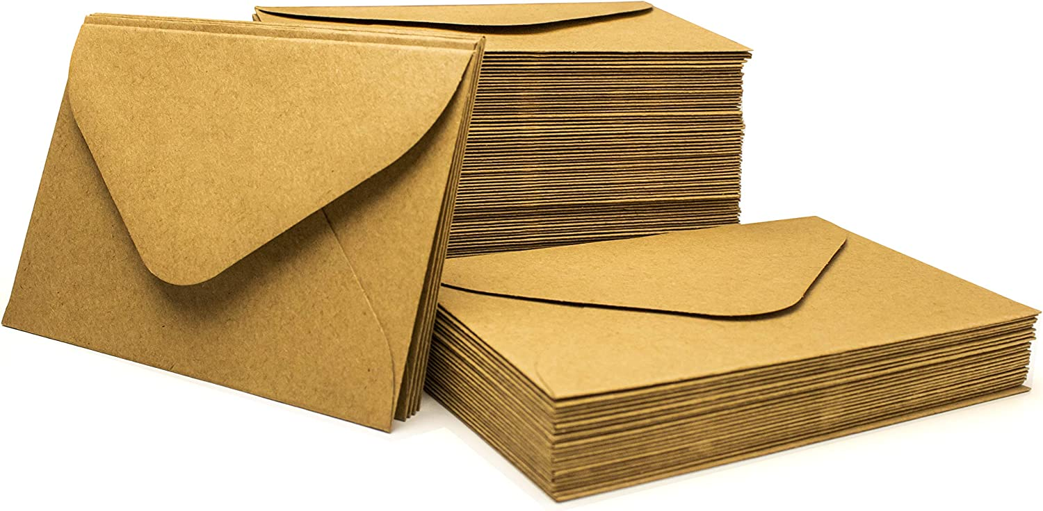 Bastex 110 Kraft Envelopes 4 Free Direct sale of manufacturer shipping New inch Brown inch. Small Kraf x 2.75