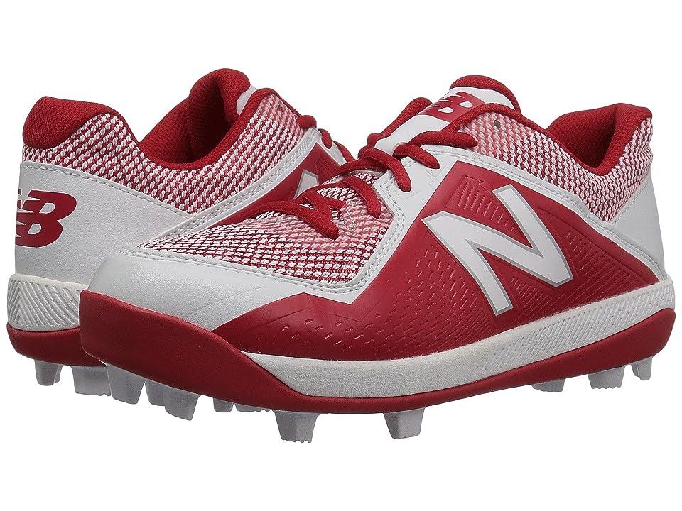 New Balance Kids J4040v4 Baseball (Little Kid/Big Kid) (Red/White) Kids Shoes