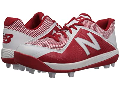 New Balance Kids J4040v4 Baseball (Little Kid/Big Kid) (Red/White) Kids Shoes