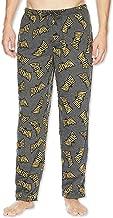 DC Comics Batman Vintage Logo Lightweight Polyester Men's Lounge Pajama Pants (Large, Grey)