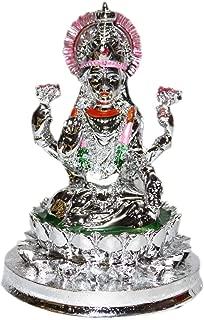 Creativegifts 24K Platinum Plated Goddess Lakshmi Idol + Rudraksha Bracelet(gpc-1136)