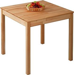 Krok Wood Table à Manger en hêtre Tomas en Bois Massif (75 x 75 x 75 cm)
