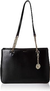 DKNY Womens Shopping Bag, Black (Black/Gold) - R74A3008