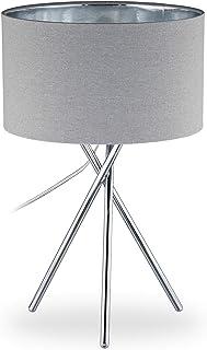 Relaxdays 10028056_1105 Lampe sur Trois Pieds, décorative, Interrupteur, lumière indirecte, Lampadaire de Salon,46x29x29c...