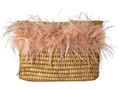 Loeffler Randall Skylar Feather Pouch (Miel/Buff Pink) Handbags