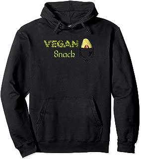 Vegan Snack Avocado Fruit Healthy Food Pocket Pullover Hoodie